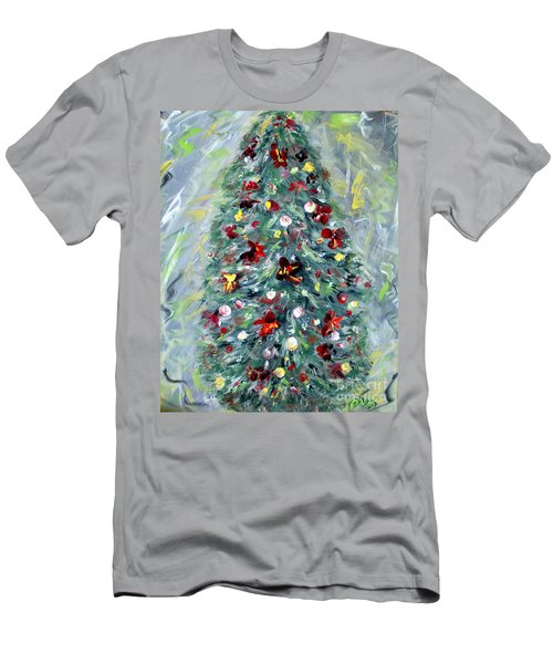 Christmas Tree. Green Men's T-Shirt (Athletic Fit)