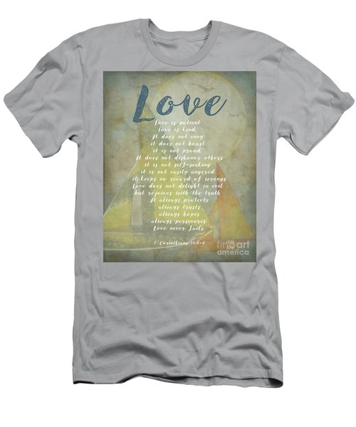 1 Corinthians 13 4-8 Love Is Patient Love Is Kind Wedding Verses. Great Gift For Men Or Home Decor. Men's T-Shirt (Athletic Fit)