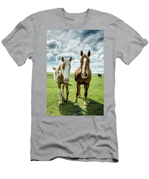 Men's T-Shirt (Slim Fit) featuring the photograph Curious Friends by Kristal Kraft