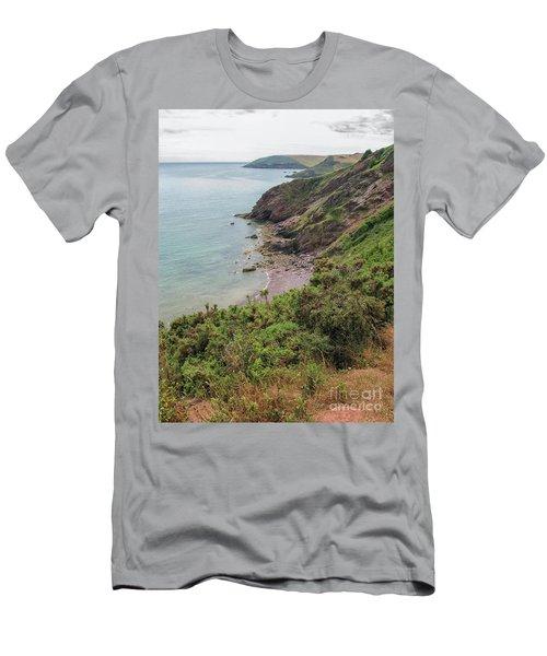 Devon Coastal View Men's T-Shirt (Slim Fit) by Patricia Hofmeester