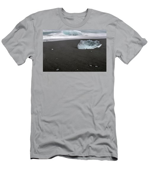Men's T-Shirt (Athletic Fit) featuring the photograph Diamonds Floating In Beaches, Iceland by Pradeep Raja PRINTS