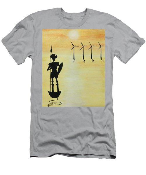 Don Quixote Men's T-Shirt (Slim Fit) by Edwin Alverio