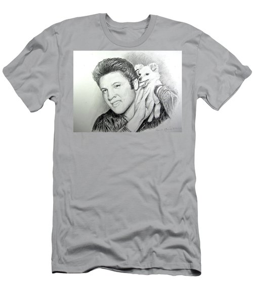 Elvis And Sweet-pea Men's T-Shirt (Slim Fit) by Patricia Schneider Mitchell