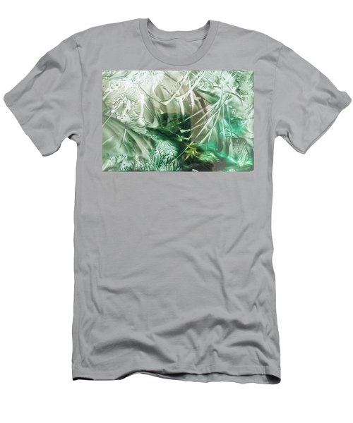 Encaustic Abstract Green Foliage Men's T-Shirt (Athletic Fit)