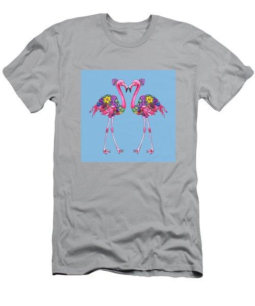 Fancy Felicity Flamingo Men's T-Shirt (Athletic Fit)