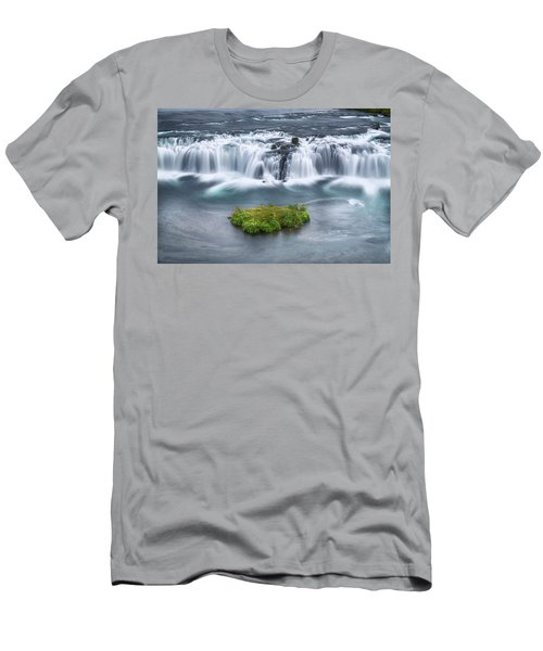 Faxi Waterfall - Iceland Men's T-Shirt (Athletic Fit)