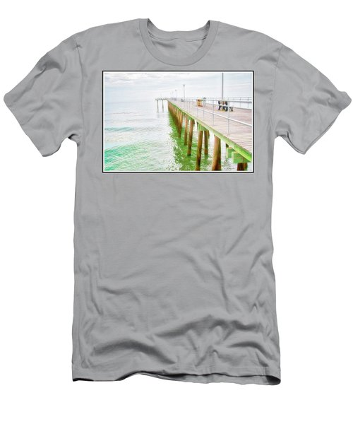 Fishing Pier, Margate, New Jersey Men's T-Shirt (Athletic Fit)
