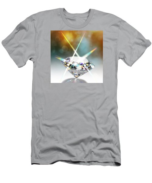 Flashing Diamond Men's T-Shirt (Athletic Fit)