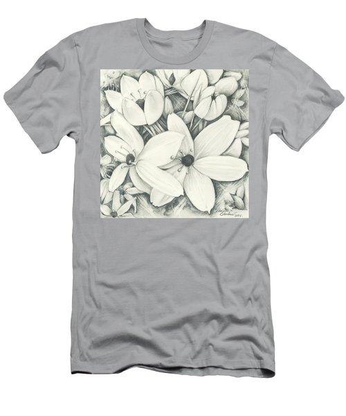 Flowers Pencil Men's T-Shirt (Athletic Fit)