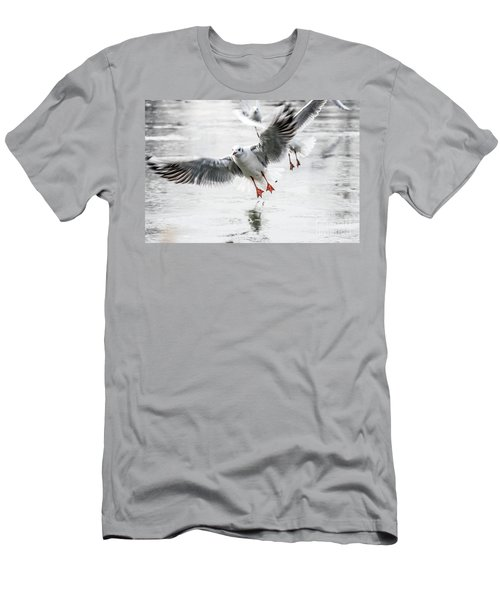 Flying Seagulls Men's T-Shirt (Athletic Fit)