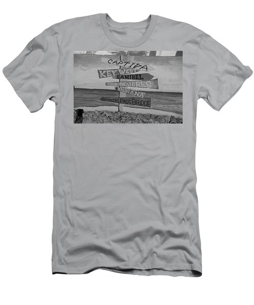 Fort Myers Beach Mural Men's T-Shirt (Slim Fit) by Michiale Schneider