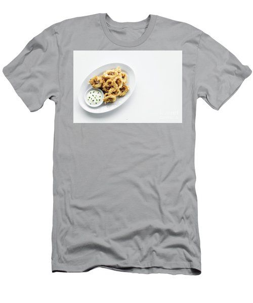 Fried Calamari Squid Rings With Aioli Garlic Sauce Men's T-Shirt (Athletic Fit)