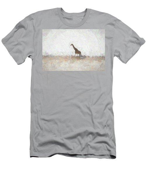 Men's T-Shirt (Slim Fit) featuring the digital art Giraffe Abstract by Ernie Echols