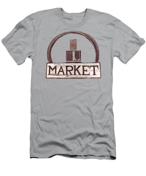 Going To The Market Men's T-Shirt (Slim Fit) by Pamela Walton