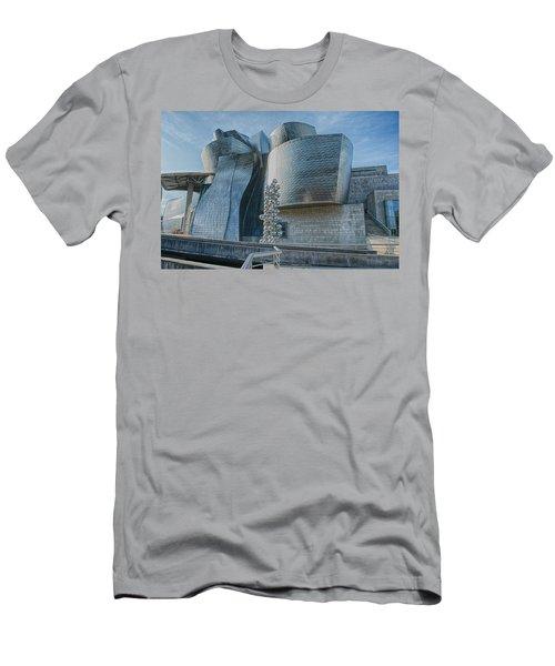Guggenheim Museum Bilbao Spain Men's T-Shirt (Slim Fit) by James Hammond