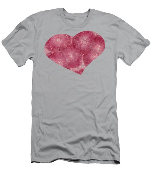 Heart Shape Stone Art Men's T-Shirt (Athletic Fit)