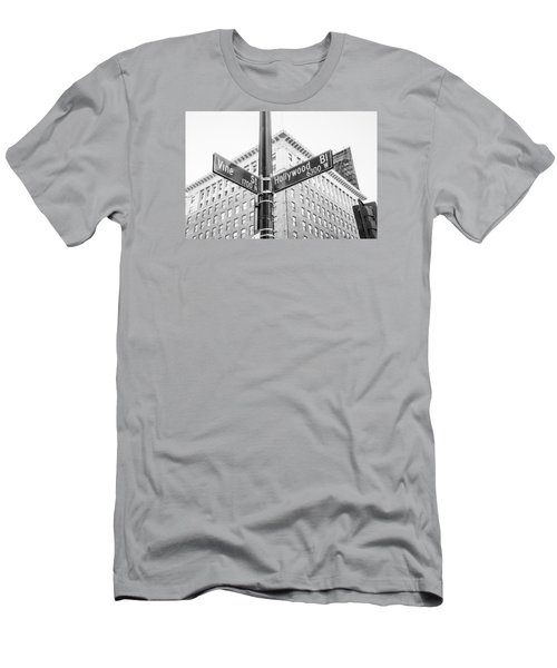 Hollywood And Vine Street Sign Men's T-Shirt (Athletic Fit)