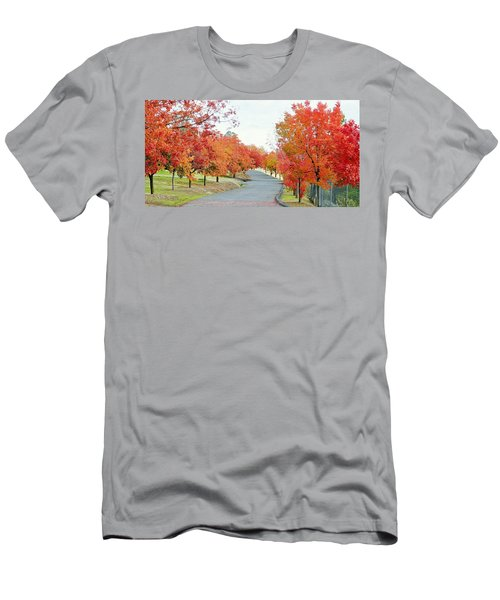 Men's T-Shirt (Athletic Fit) featuring the photograph Last Days Of Autumn by AJ Schibig