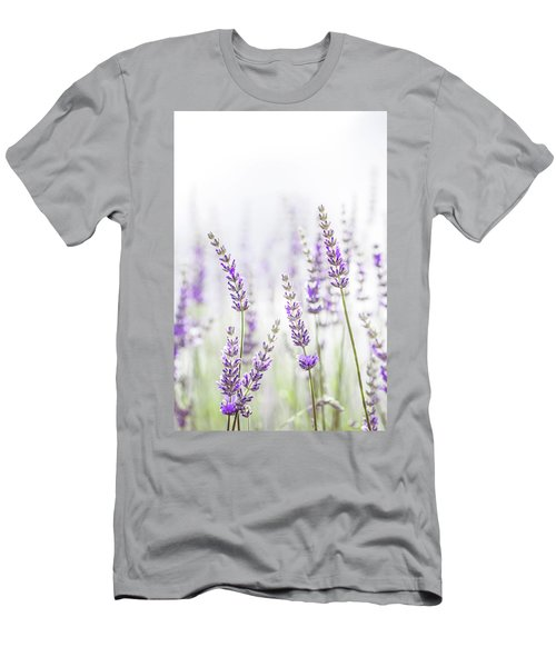 Lavender Flower In The Garden,park,backyard,meadow Blossom In Th Men's T-Shirt (Slim Fit) by Jingjits Photography