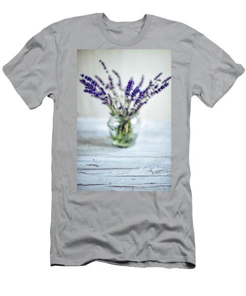 Lavender Still Life Men's T-Shirt (Athletic Fit)