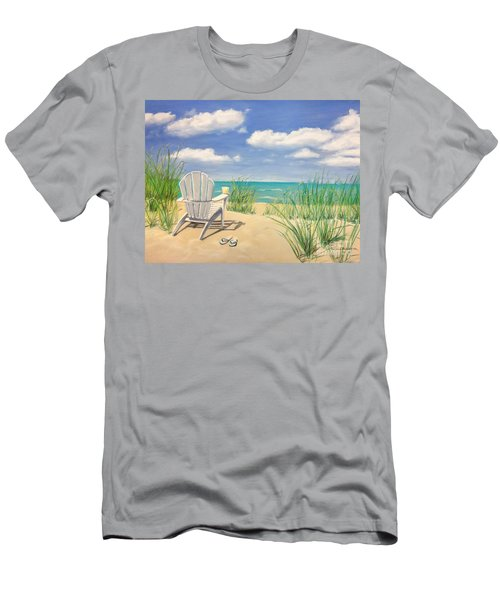 Life Is A Beach Men's T-Shirt (Slim Fit) by Diane Diederich