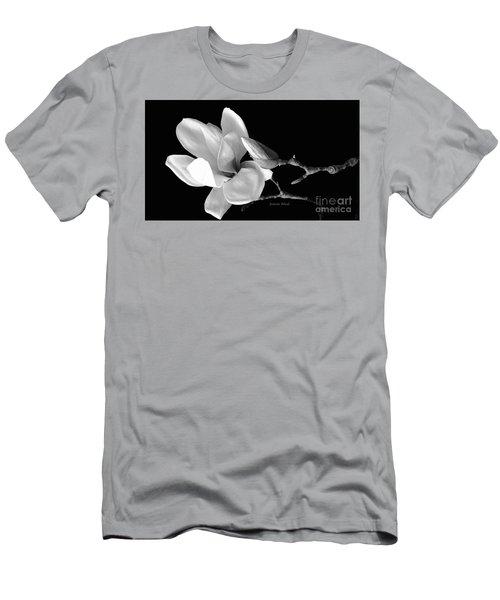 Magnolia In Monochrome Men's T-Shirt (Slim Fit) by Jeannie Rhode