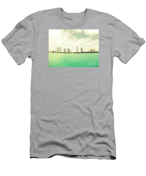 Men's T-Shirt (Slim Fit) featuring the photograph Miami  by France Laliberte