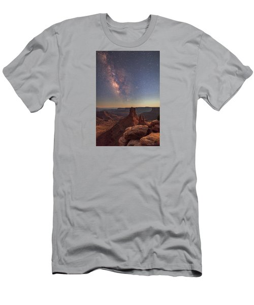 Milky Way At Twilight - Marlboro Point Men's T-Shirt (Athletic Fit)