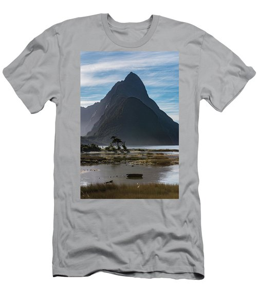 Men's T-Shirt (Athletic Fit) featuring the photograph Mitre Peak / Rahotu by Gary Eason