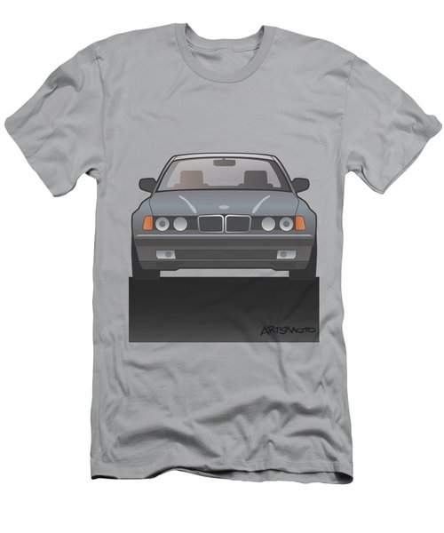 Modern Euro Icons Series Bmw E32 740i Men's T-Shirt (Athletic Fit)