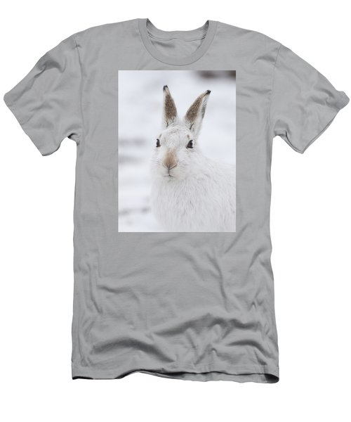 Mountain Hare In The Snow - Lepus Timidus  #1 Men's T-Shirt (Athletic Fit)