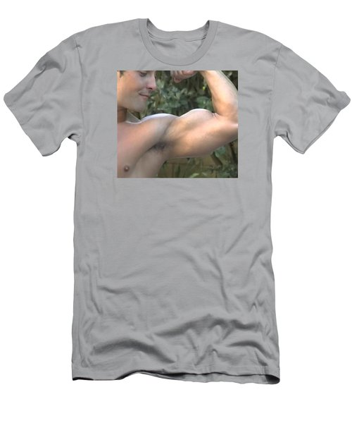Mr. Biceps Men's T-Shirt (Slim Fit) by Jake Hartz