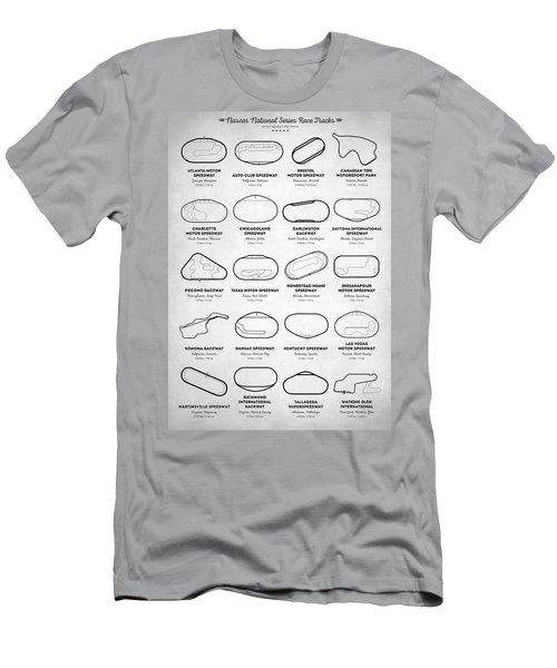 Men's T-Shirt (Slim Fit) featuring the digital art Nascar Racetracks by Taylan Apukovska