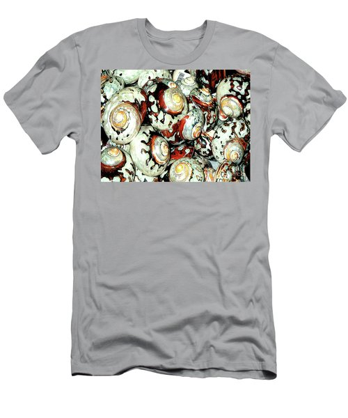 Men's T-Shirt (Athletic Fit) featuring the photograph Naturally Colored Seashells - Florida Key's Exhibit by Merton Allen
