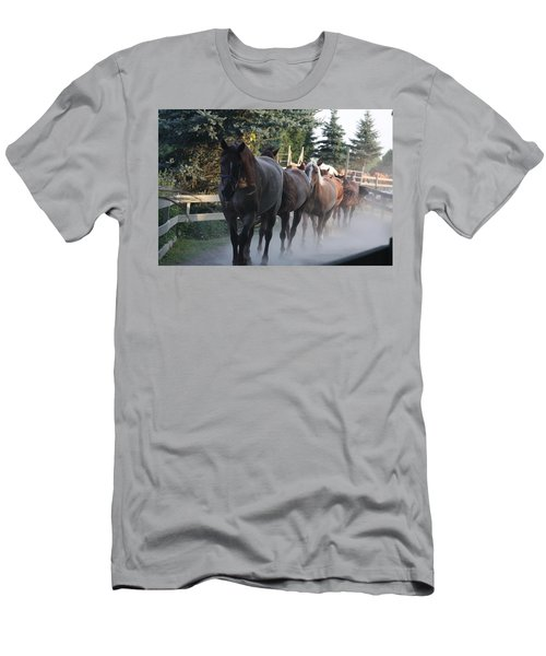 Men's T-Shirt (Athletic Fit) featuring the photograph New Morning by Vadim Levin