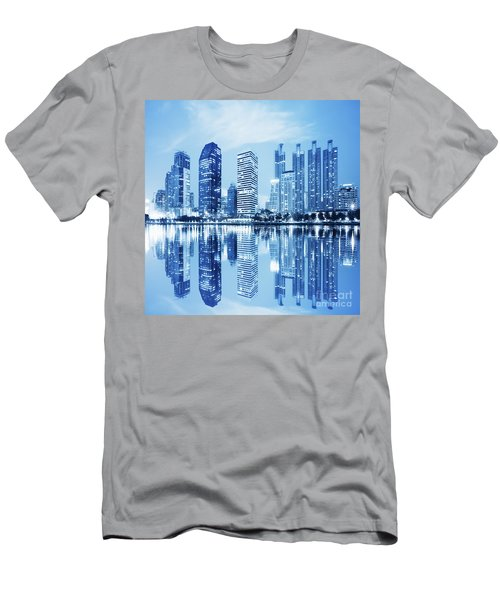 Night Scenes Of City Men's T-Shirt (Athletic Fit)