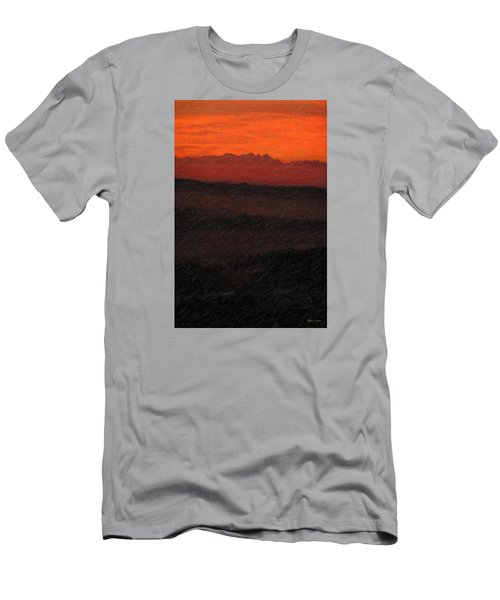 Not Quite Rothko - Blood Red Skies Men's T-Shirt (Slim Fit) by Serge Averbukh