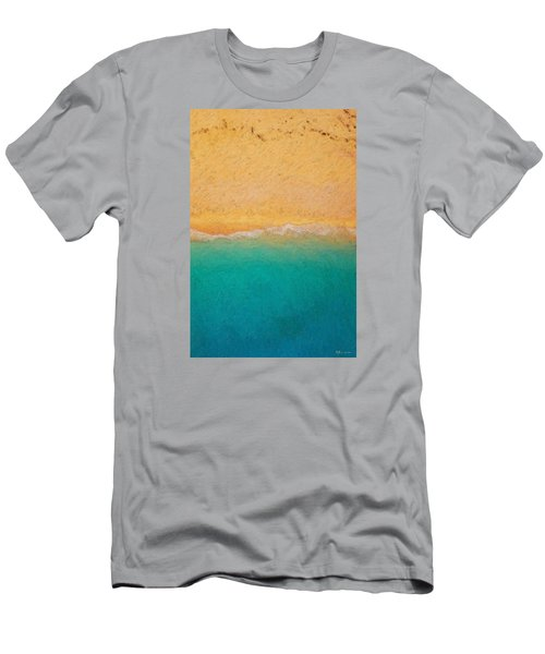 Not Quite Rothko - Surf And Sand Men's T-Shirt (Slim Fit) by Serge Averbukh
