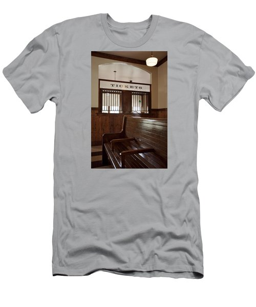 Old Time Train Station Men's T-Shirt (Athletic Fit)