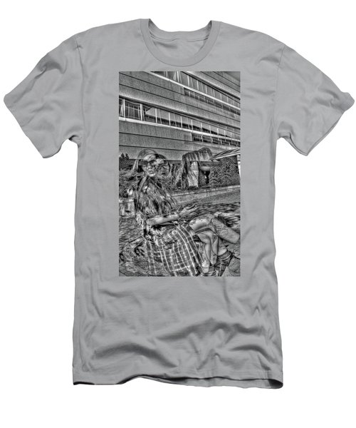 Men's T-Shirt (Slim Fit) featuring the photograph Out Of Phase 2 by Andy Lawless