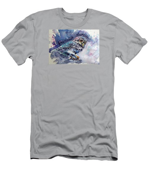 Owl At Night Men's T-Shirt (Slim Fit) by Kovacs Anna Brigitta
