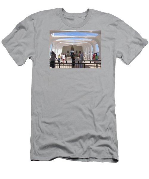 Pearl Harbor Remembered Men's T-Shirt (Slim Fit) by Jewels Blake Hamrick
