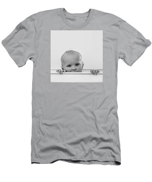 Peek A Boo Men's T-Shirt (Slim Fit) by Karen Lewis