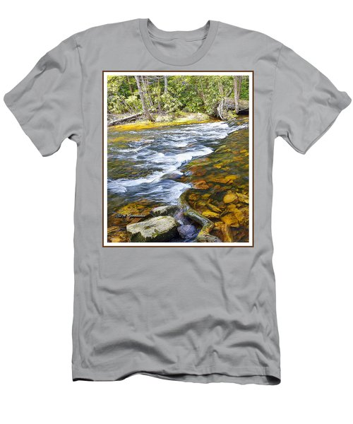 Pennsylvania Mountain Stream Men's T-Shirt (Slim Fit) by A Gurmankin