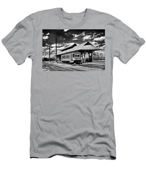 Men's T-Shirt (Slim Fit) featuring the photograph Philadelphia Trolley by Paul W Faust - Impressions of Light