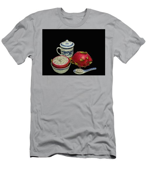 Men's T-Shirt (Slim Fit) featuring the photograph Pink Dragon Fruit  by David French