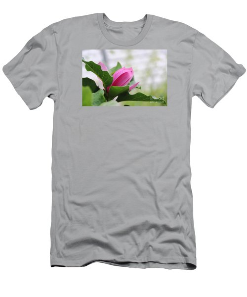 Men's T-Shirt (Slim Fit) featuring the photograph Pink Magnolia  by Yumi Johnson