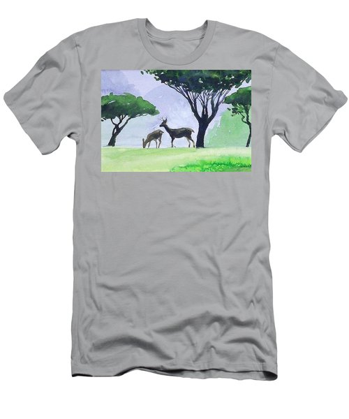 Men's T-Shirt (Slim Fit) featuring the painting Point Lobos by Ed Heaton