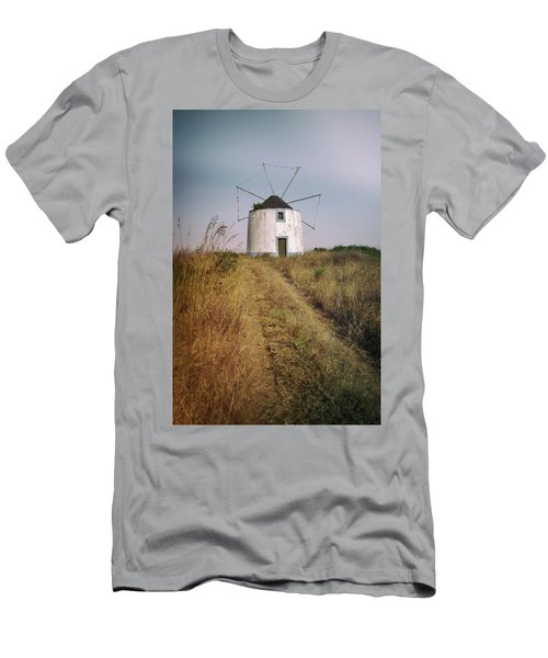 Men's T-Shirt (Slim Fit) featuring the photograph Portuguese Windmill by Carlos Caetano