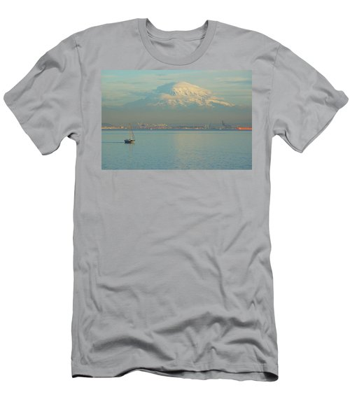 Men's T-Shirt (Slim Fit) featuring the photograph Puget Sound by Angi Parks